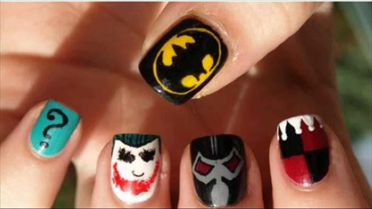 15 Great Batman Nail Art Designs For Kids Pretty Designs Youtube