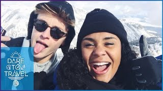 Damon and Jo Make Snow Angels in Jackson Hole | Dare To Travel Episode 2