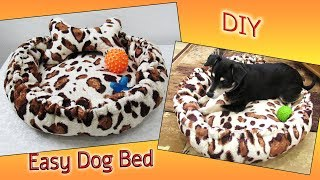 DIY Easy Dog Bed - Pet Bed From Old Plaid - Recycling Idea -Sewing Tutorial