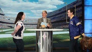 Ellen Puts a Couple Head-to-Head in a Super Bowl Ticket Showdown