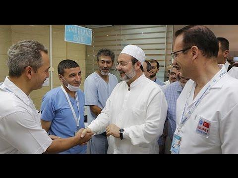 Diyanet İşleri Başkanı Görmez, Mekke hastanesini ziyaret etti