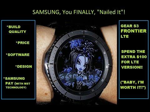 Samsung Gear S3 LTE Frontier Smartwatch
