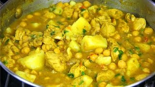 Curry Chicken With Chickpeas & Potato - Chris De La Rosa