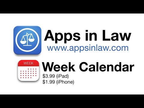 Apps in Law: Week Calendar