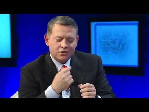 "King Abdullah II Ibn Al Hussein Saying "" Tus2 "" Funny"
