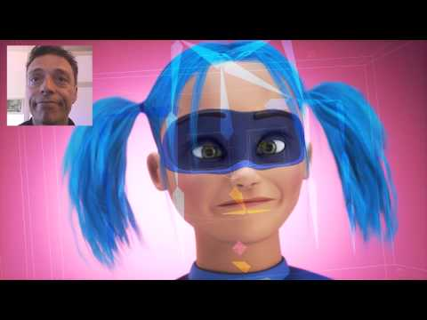 Super Girl - Faceshift - facial motion capture 3D - mascotte