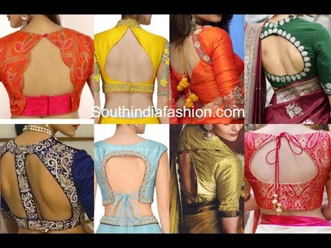 100+ Super Stylish and Trendy Saree Blouse Neck Designs