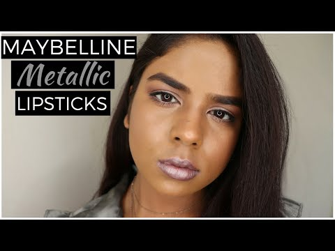 maybelline-matte-metallic-lipsticks-swatches-|-all-11-shades-|-indian-dusky/tan/brown-skin-tone