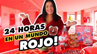 24 HORAS COMIENDO ROJO | All Day Eating Red Food Challenge  - KEY ZARA👄 🔑