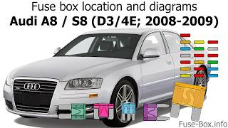 Fuse box location and diagrams: Audi A8 / S8 (2008-2009) - YouTube | 2004 Audi A8 Fuse Box Trunk |  | YouTube