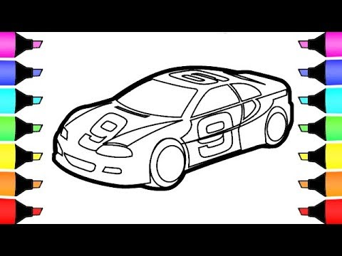 Toy Race Car Coloring Pages I Fun Colouring For Kids - YouTube