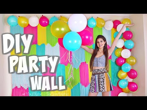 DIY COLORFUL PARTY BACKDROP + Testing Bunch O Balloons Party 🎈