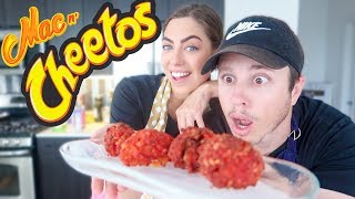 BURGER KING MAC AND CHEETOS DIY!! (FLAMING HOT)