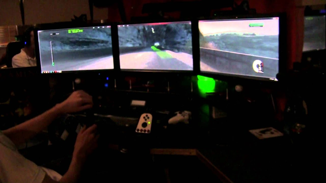 playseat office chair + logitech g27 and some racing! - youtube