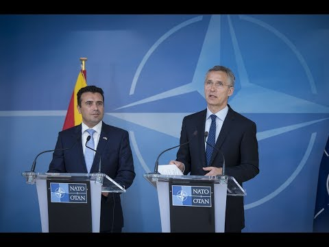 NATO Secretary General with Prime Minister of Former Yugoslav Republic of Macedonia, 12 JUN 2017