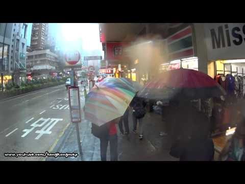 【Hong Kong One Hour】Walking on Nathan Road in a raining day (Upper View)