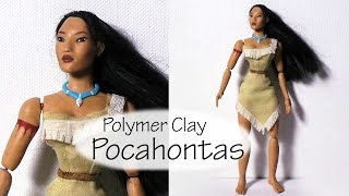 Pocahontas Inspired Doll (Poseable) - Polymer Clay Tutorial