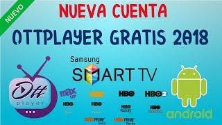 CUENTA OTTPLAYER ACTUALIZADO | SEPTIEMBRE 2018 (Para Smart tv y Android tv Box)