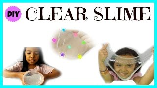CLEAR SLIME ♥ TUTORIAL SLIME MUDAH BAHASA |HOW TO MAKE CLEAR SLIME
