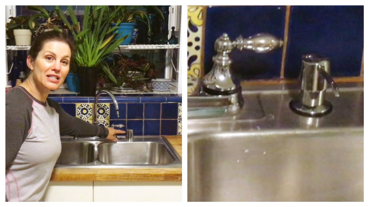 Atajo para la cocina c mo instalar un dispensador de - Dispensador de jabon cocina ...
