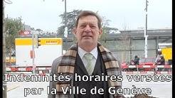 Indemnités horaires versées par la Ville de Genève
