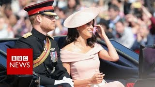 Royals join Queen at birthday parade - BBC News