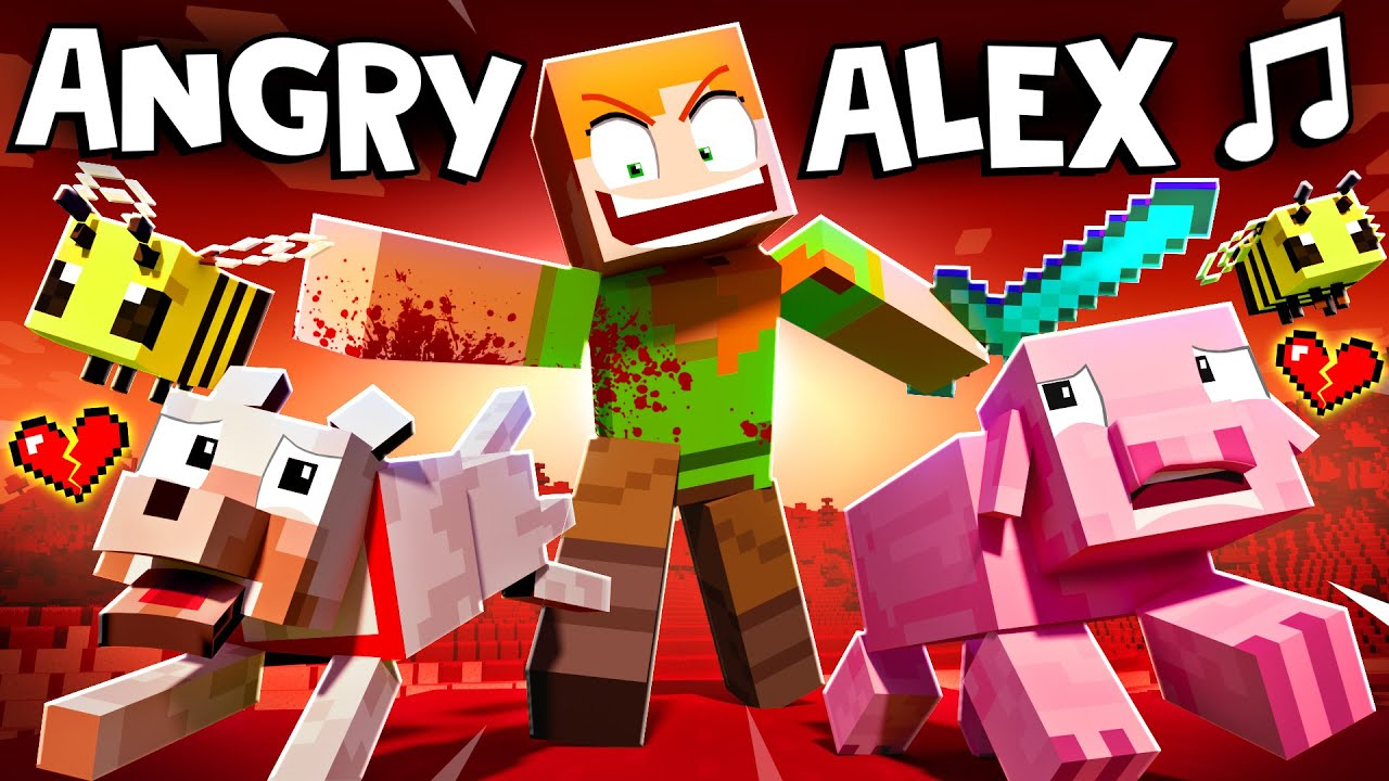 """Download """"ANGRY ALEX"""" 🎵 [VERSION A] Minecraft Animation Music Video"""