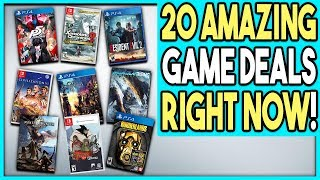 20 AWESOME GAME DEALS RIGHT NOW - PS4, SWITCH and PC/STEAM DEALS!