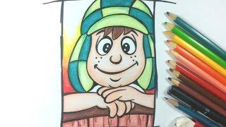 Como desenhar o CHAVES cartoon - passo a passo