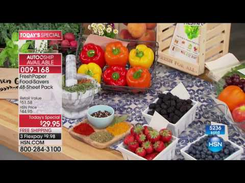 HSN | Kitchen Innovations featuring FreshPaper 08.07.2017 - 01 AM