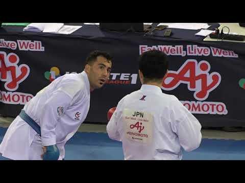 Premier League 2019 Madrid Male84+ Kagawa Hideyoshi (JPN) Vs Ganjzadeh Sajad (IRI)