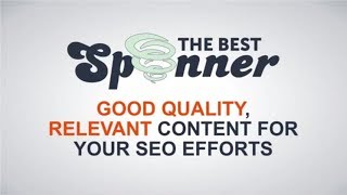 Best Spinner Review Demo - Advanced Article Spinning Software