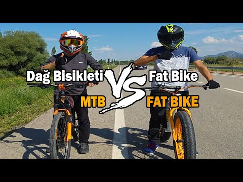 Dağ Bisikleti vs FatBike/Mountain Bike vs Fat Bike