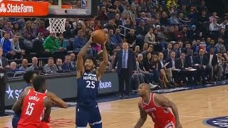 Derrick Rose Slam Dunks and Shocks the Timberwolves Crowd and Rockets Players!