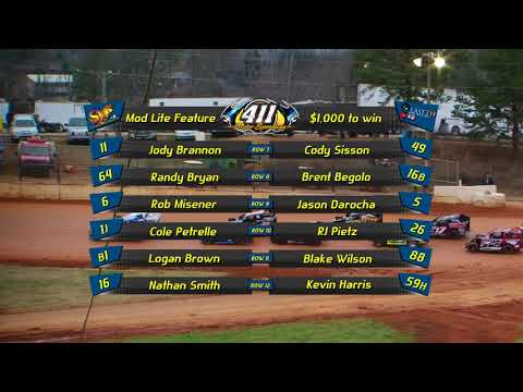 Mod Lite | 411 Motor Speedway 8th Annual Hangover | 12-30-17