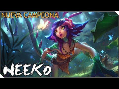 NUEVA CAMPEONA NEEKO !! Analizando y jugando con Neeko Jungla!! BRUTAL