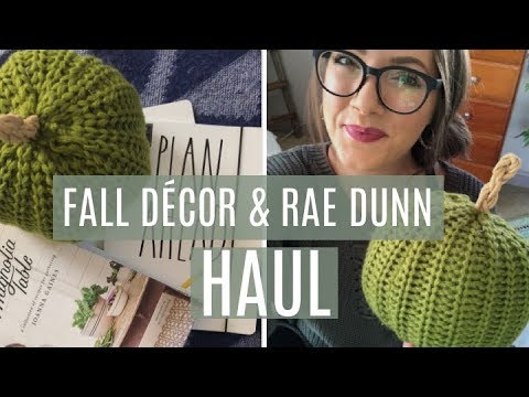 FALL DECOR & RAE DUNN HAUL!! 2018 // Marshalls | CreativeScribbles