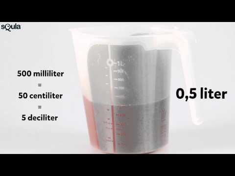 Squla uitlegfilmpje: rekenen met inhoud (liter, deciliter, centiliter, milliliter) (groep 5)
