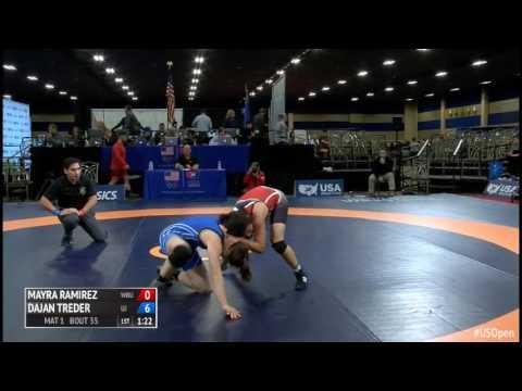 53 1/4 Final - Mayra Ramirez (Wayland Baptist University) vs. Dajan Treder (University of Jamestown)