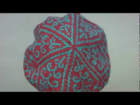 18 Fair Isle Tam, Vogue Knitting Fall 2009 - YouTube