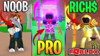 ROBLOX NOOB VS PRO VS BILLIONAIRE - ROBLOX MINING SIMULATOR *FUNNY*!