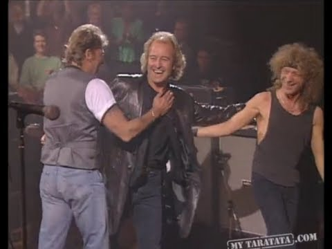 """Mick """"Micky"""" Jones and Foreigner invited by Johnny Hallyday - show """"Taratata"""" - December 23, 1994"""