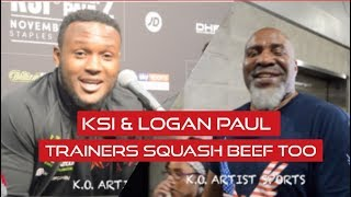 """VIDDAL RILEY TO SHANNON BRIGGS """"I APOLOGIZE FOR THAT!"""" KSI & LOGAN PAUL TRAINERS MAKE AMENDS"""