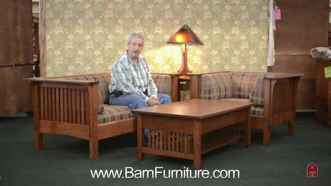Barn Furniture   Mission Prairie Sofa Loveseat And Chair Made In USA    YouTube