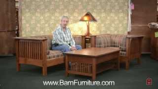 Barn Furniture - Mission Prairie Sofa Loveseat And Chair Made In Usa