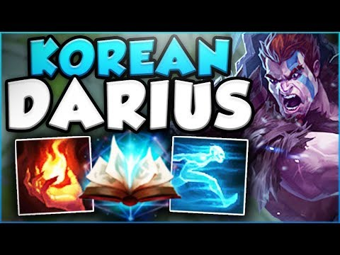 KOREAN SPELLBOOK SWAP DARIUS IS ACTUALLY GENIUS! DARIUS SEASON 8 TOP GAMEPLAY! - League of Legends