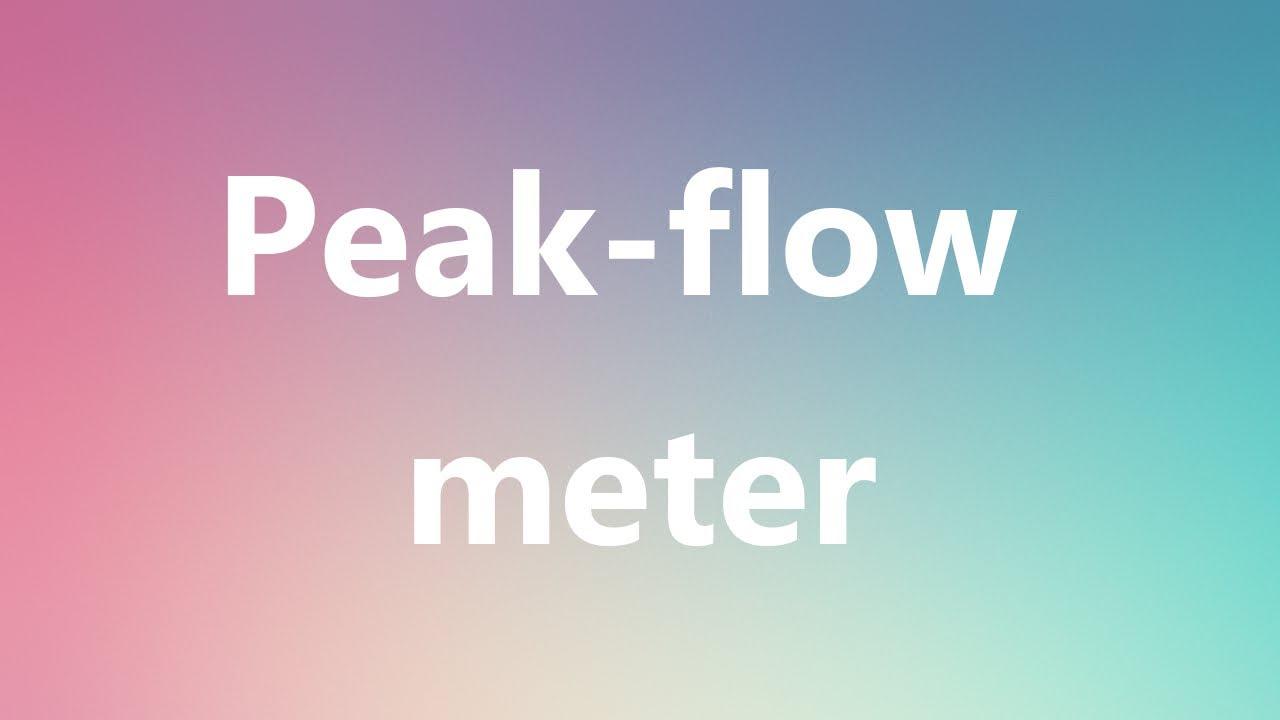 peak flow meaning