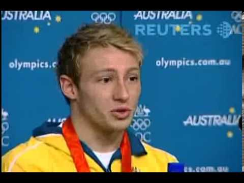 Beijing 2008 Matthew Mitcham Press Conference after Wining Gold Medal