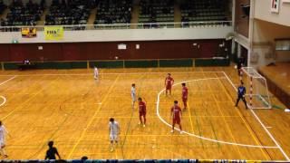 全日本フットサル選手権 関西代表決定戦 ミキハウス(赤)対SWH(後半)