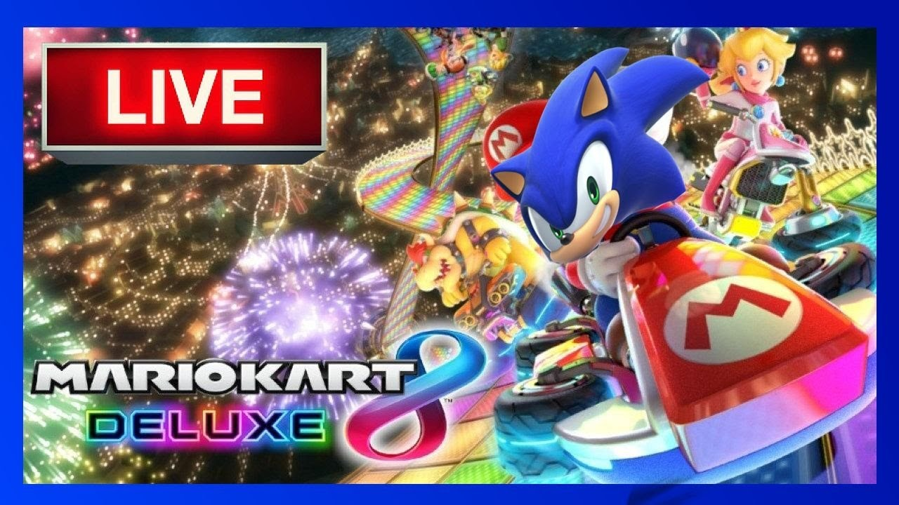 Sonic and Friends Play Mario Kart 8 Deluxe Live Stream